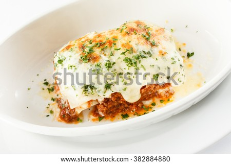 Italian lasagna - stock photo