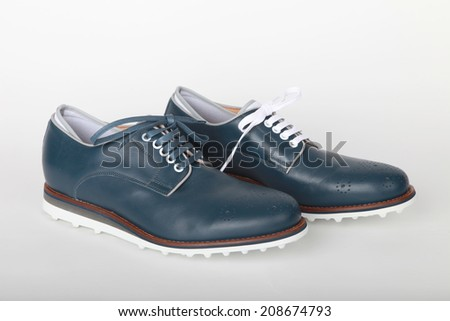Italian leather golf shoes