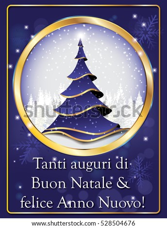 Italian lovely greeting card winter holiday stock illustration italian lovely greeting card for winter holiday merry christmas and happy new year tanti m4hsunfo