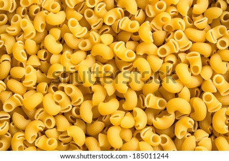 Italian Macaroni Pasta raw food background or texture close up - stock photo