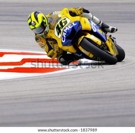 Italian MotoGP rider Valentino Rossi -Camel Yamaha team - stock photo