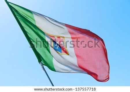 Italian Nautical Flag - stock photo