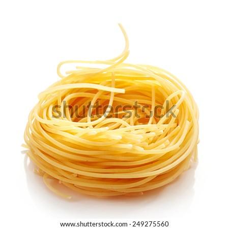 italian pasta isolated on a white background - stock photo