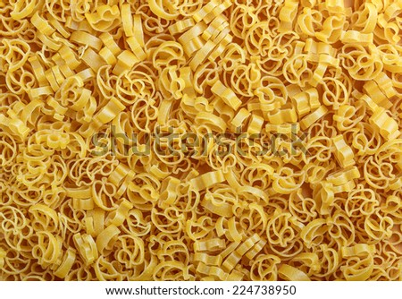 Italian pasta, raw food background