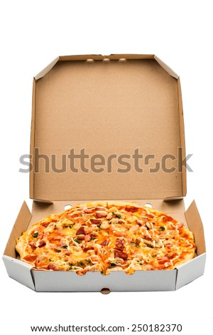 italian pizza isolated over white background