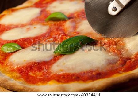 Italian pizza Margherita - stock photo