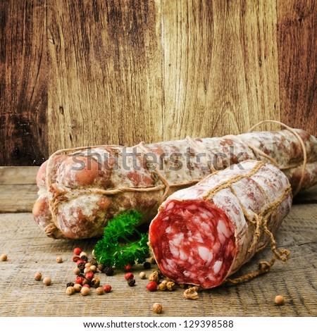 Italian salami - stock photo