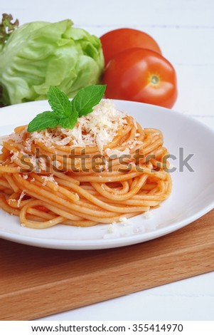 Italian spaghetti with cheese
