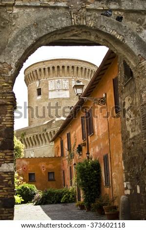 Italian streets - stock photo