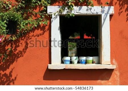 Italian style Window - stock photo