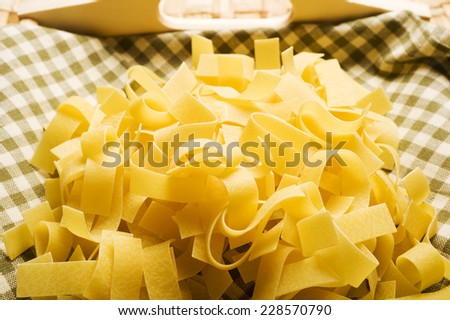 italian tagliatelle, home made fresh pasta