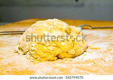 Italian traditional base ingredients needed to prepare pasta on a food staple. - stock photo