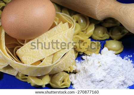 Italian uncooked pasta - stock photo