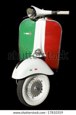 Italian vespa - stock photo