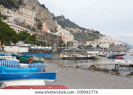 Italy, Amalfi. View of the city