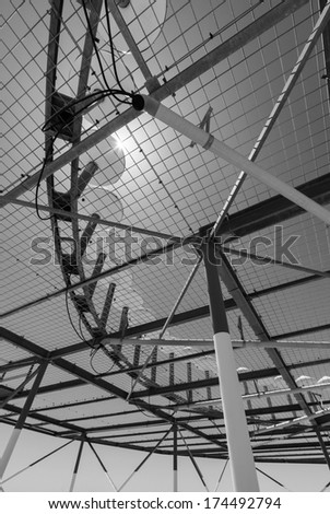 ITALY, Bari, international airport, flight control sensors - stock photo