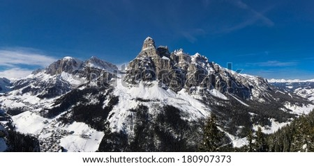 Italy beauty, Dolomites, Sassongher mount