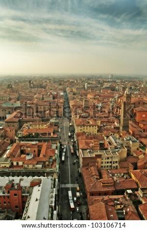 Italy, Bologna. area view - stock photo