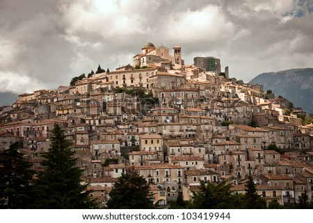 Italy, Calabria, Morano Calabro - stock photo