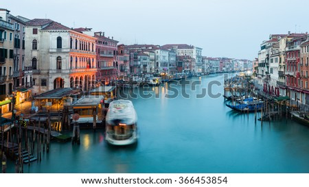 Italy, Canal Grande in Venice