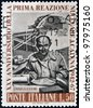 ITALY - CIRCA 1967: A stamp printed in Italy shows Enrico Fermi Italian American physicist, circa 1967 - stock photo