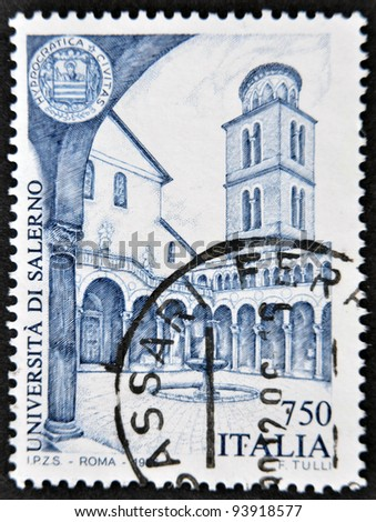 ITALY - CIRCA 1996: A stamp printed in Italy shows University of Salerno, circa 1996