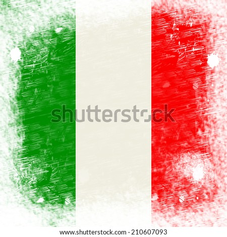 Italy Copyspace Meaning National Flag And Country