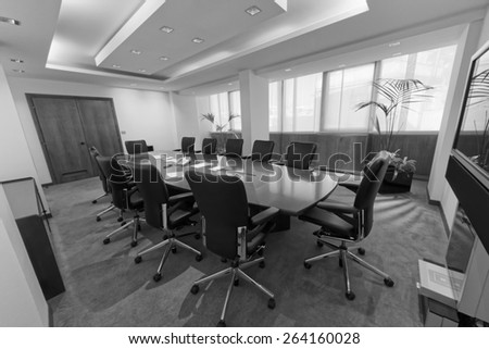 Italy, corporate business meeting room - stock photo