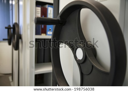 Italy, corporate office archive - stock photo