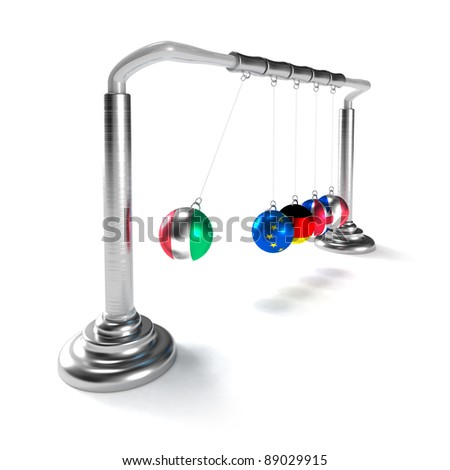 Italy economy is breaking the economies of developed countries of European Union (concept) - stock photo