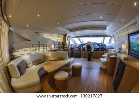 Italy, Fiumicino (Rome),  78 luxury yacht, dinette