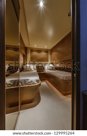 Italy, Fiumicino (Rome), 78 luxury yacht, guests bedroom