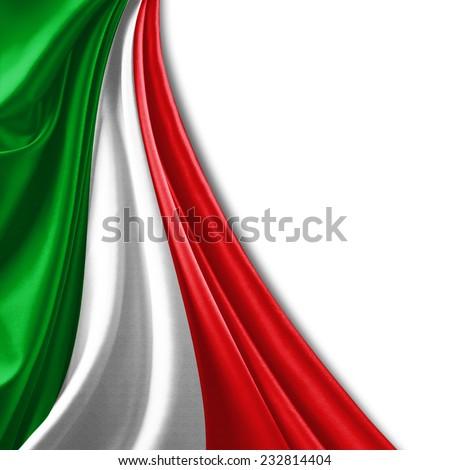 Italy flag and white background - stock photo
