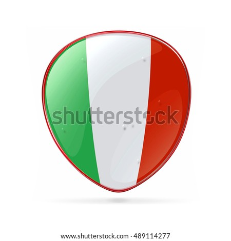 Italy Flag Icon, isolated on white background