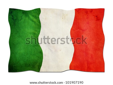 Italy Flag made of Paper - stock photo