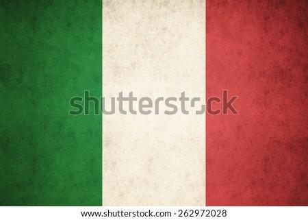 Italy flag on concrete textured background - stock photo