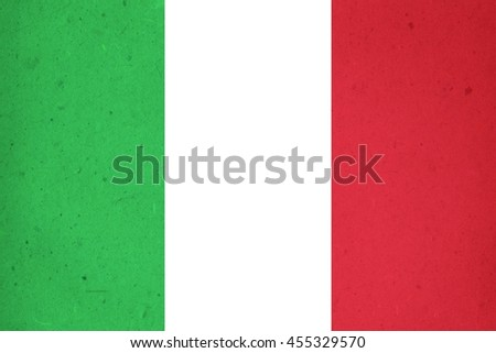 italy flag on textured background