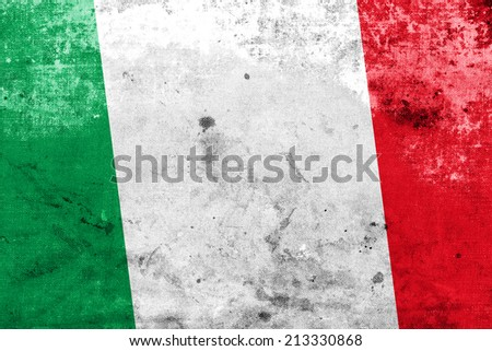 Italy Flag with a vintage and old look - stock photo