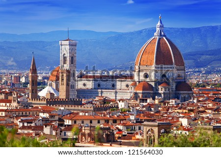 Italy. Florence. Cathedral Santa Maria del Fiore - stock photo
