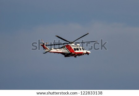Italy, flying helicopter