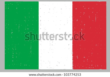 Italy  grunge flag hand drawing isolated
