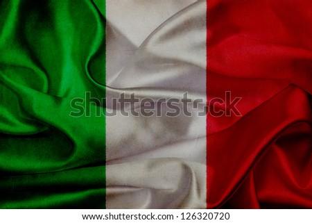 Italy grunge waving flag - stock photo