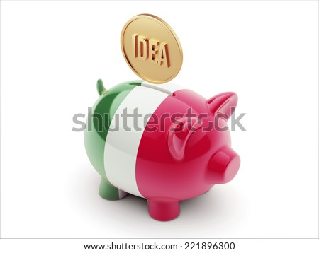 Italy High Resolution Idea Concept High Resolution Piggy Concept