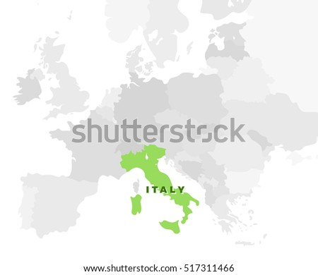 Italy location modern detailed map all stock illustration 517311466 italy location modern detailed map all european countries without names and italian republic template gumiabroncs Choice Image
