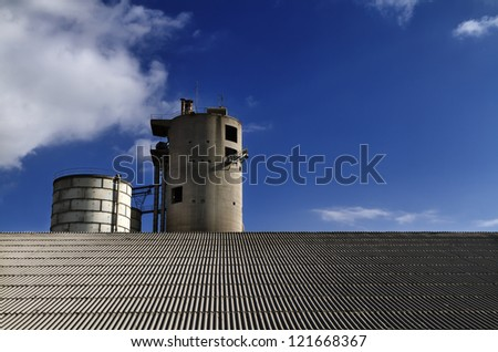 Italy, Maddaloni (Naples), cement factory