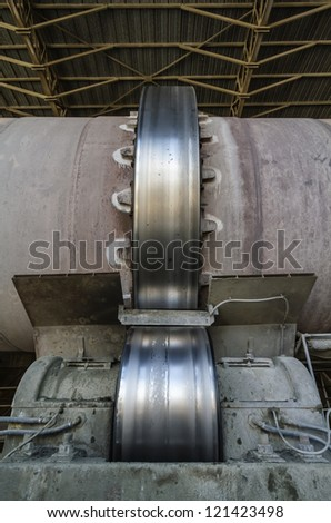 Italy, Maddaloni (Naples), cement factory, blast furnace