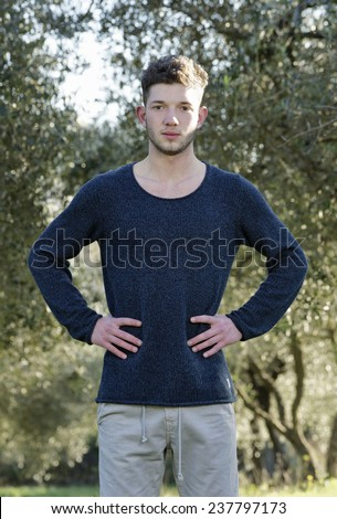 Italy, male teenager portrait