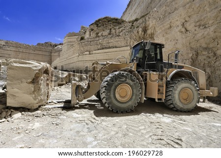 Italy, marble cutting factory, stone-pit - industrial