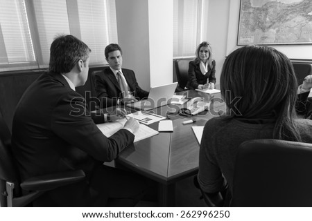 Italy, office Business Meeting - stock photo
