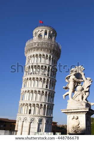 Italy. Pisa. The Leaning Tower of Pisa  - stock photo